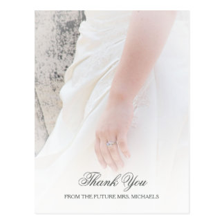 Postal La ducha nupcial de las novias de la foto etérea
