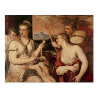 Postal La educación del Cupid, c.1565