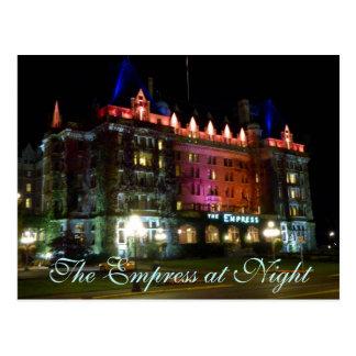 Postal La emperatriz en la noche