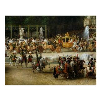 Postal La entrada de Napoleon y de Marie-Louise
