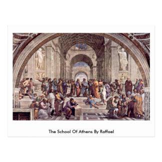 Postal La escuela de Atenas de Raffael