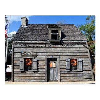Postal La escuela de madera más vieja