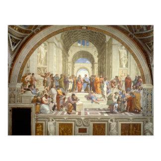 Postal La escuela de Raphael de Atenas