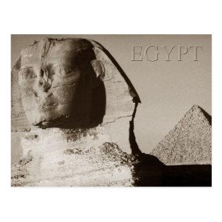 Postal La esfinge y la pirámide de Menkaure, Egipto