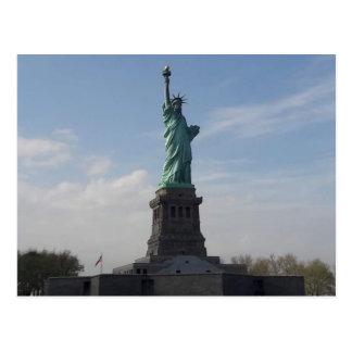 Postal La estatua de la libertad