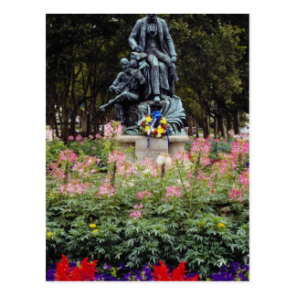 Postal La estatua roja honra Pittsburgh Stephen nativo