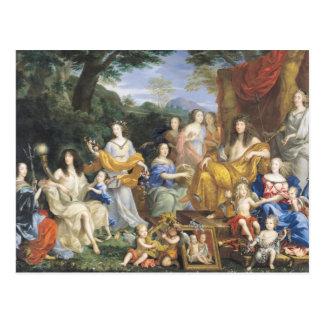 Postal La familia de Louis XIV 1670 2