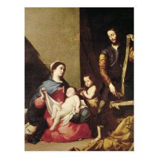 Postal La familia santa, 1639