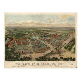 Postal La feria 1904 de mundo de St. Louis