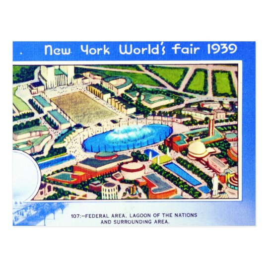 Postal La feria de mundo de Nueva York 1939