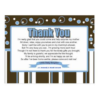 Postal La fiesta de bienvenida al bebé azul del metro le