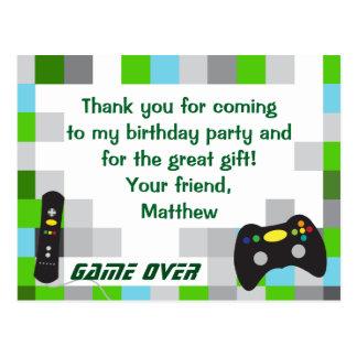Postal La fiesta de cumpleaños del camión del videojuego