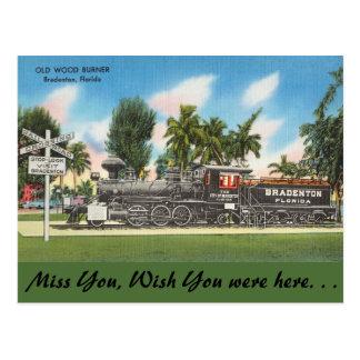 Postal La Florida, Bardenton, hornilla de madera vieja