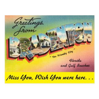 Postal La Florida, saludos de Bradenton