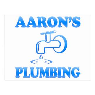 Postal La fontanería de Aaron