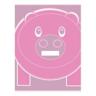 Postal La forma hizo el cerdo