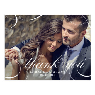 Tarjetas de agradecimiento como recuerdos de boda en Zazzle