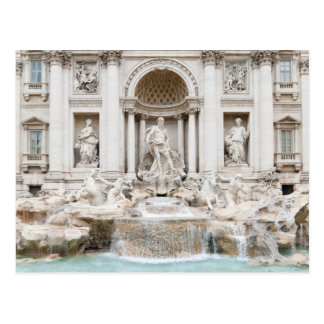 Postal La fuente del Trevi (italiano: Fontana di Trevi)