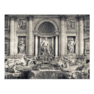 Postal La fuente del Trevi (italiano: Fontana di Trevi) 4
