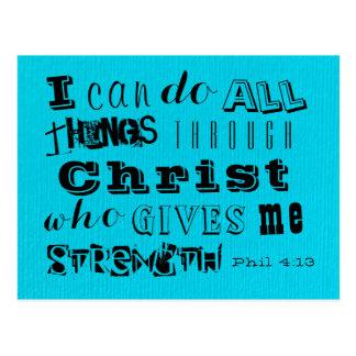 Postal La fuerza de Cristo - 4:13 de Phil