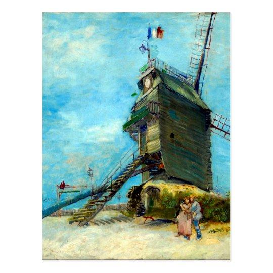 Postal La Galette de Vincent van Gogh Le Moulin de