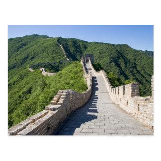 Postal La Gran Muralla de China en Pekín, China