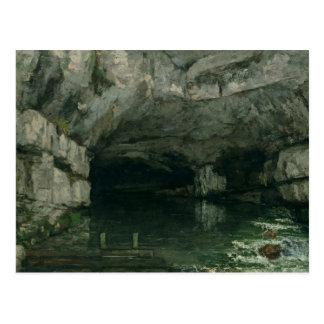 Postal La gruta del Loue, 1864