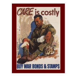 Postal La guerra es WWII costoso