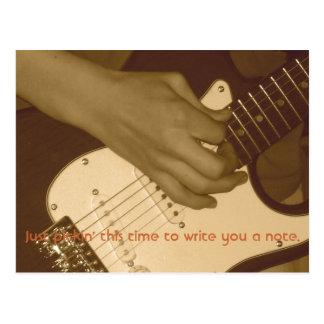 Postal La guitarra de Jon