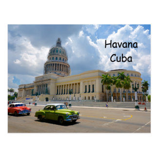 Postal La Habana, Cuba, el edificio del capitolio,