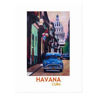 Postal La Habana en Cuba - EL Capitolo con el oldtimer