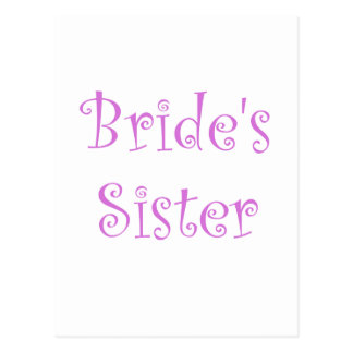 Postal La hermana de la novia
