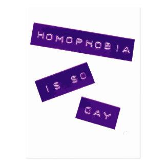 Postal La homofobia es II tan gay