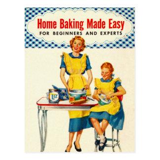 Postal La hornada del hogar de la hornada de la mujer del