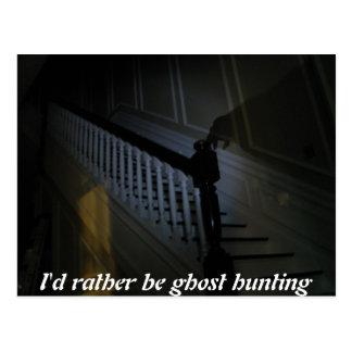 Postal La identificación sea bastante sombra de la caza
