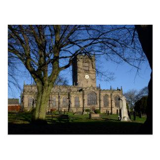 Postal La iglesia Ecclesfield. de St Mary