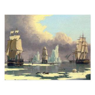 Postal La industria pesquera septentrional de la ballena