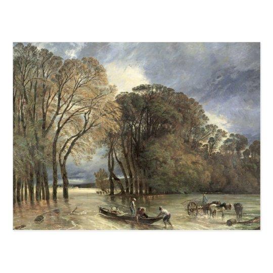 Postal La inundación en la Santo-Nube, 1855