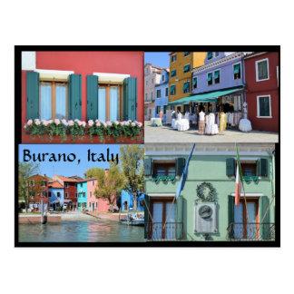 Postal La isla de Burano, Italia