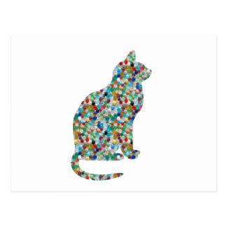 Postal La joya DE LUJO n empiedra CAT tachonado - animal