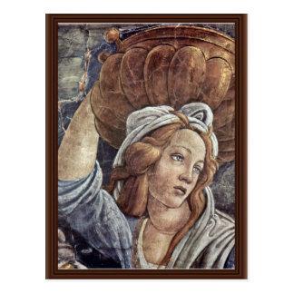 Postal La juventud de Moses, detalle de Botticelli Sandro
