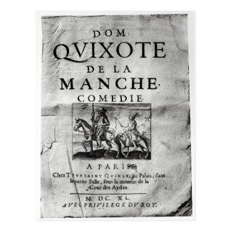 Postal La la Mancha Comedie de los Dom Quijote de