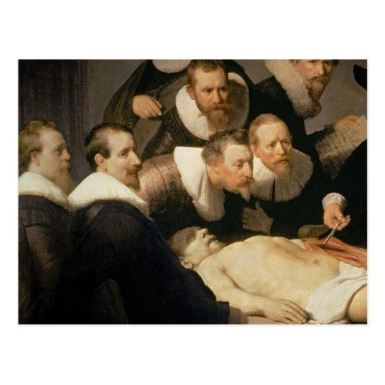 Postal La lección de la anatomía del Dr. Nicolaes Tulp, | Zazzle.es