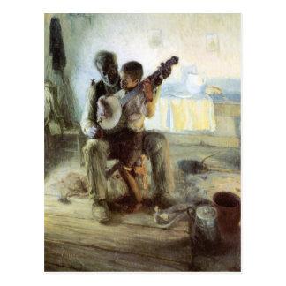 Postal La lección del banjo