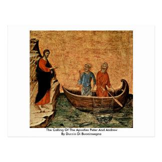 Postal La llamada de los apóstoles Peter y Andrew