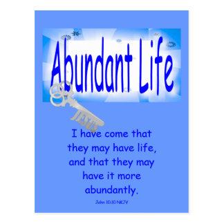 Postal La llave a la vida abundante v2 (Juan 10: 10)