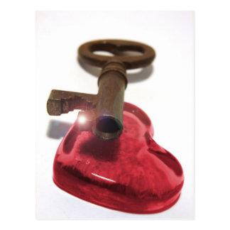 Postal La llave a mi corazón…
