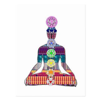 Postal La meditación de la yoga de NVN723 Chakra domina