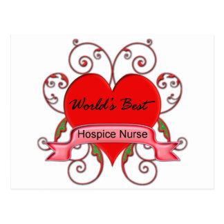 Postal La mejor enfermera del hospicio del mundo