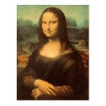 Postal La Mona Lisa de Leonardo da Vinci